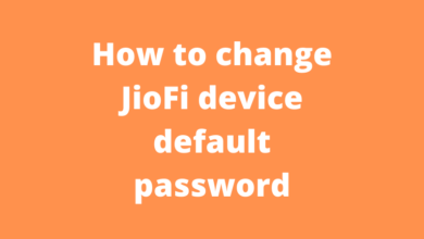 How to change JioFi device default password