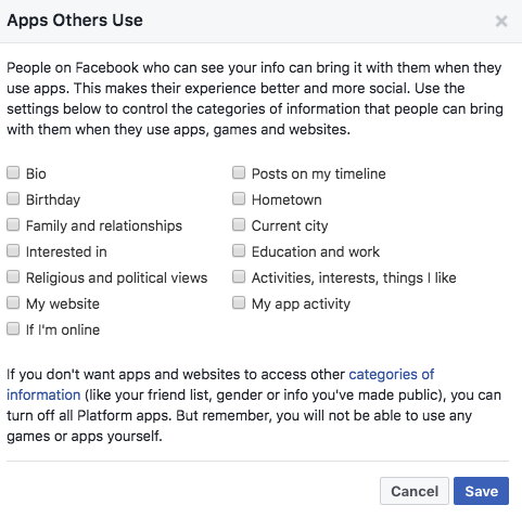 Facebook Privacy Tip: How to Limit Your Data Being Shared With Third Parties FB Apps Others Use 2