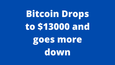 Bitcoin Drops to $13000 and goes more down
