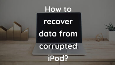 how to recover data from corrupted ipod