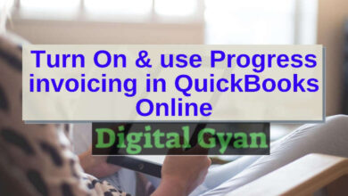 turn on and use Progress invoicing for QuickBook