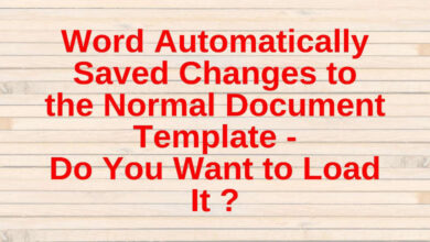 word automatically saved changes