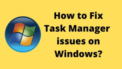 how to fix task manager issues