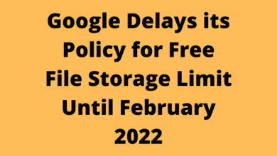 Google Delays its Policy for Free File Storage Limit Until February 2022